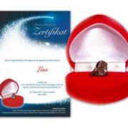 Meteorito en caja de Corazón