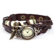 Reloj Trenzado de cuero Vintage para Damas