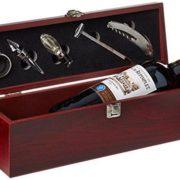 Caja de Vino con Accesorios - con mucho Estilo