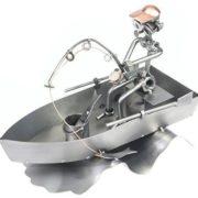Figura de Metal de Pescador- Regalo para Pescadores