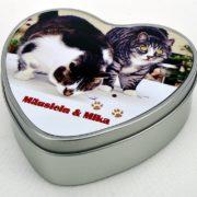 Caja Metálica de Corazón Personalizada
