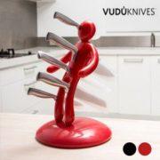 Juego de Cuchillos con Soporte Voodoo - 5 Piezas
